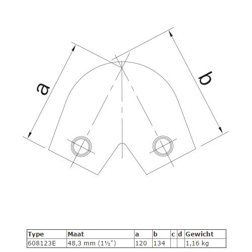 Steigerbuis koppeling variabel kniestuk 40° - 70° afmetingensteigerbuis-koppeling-kniestuk-variabel-afmeting