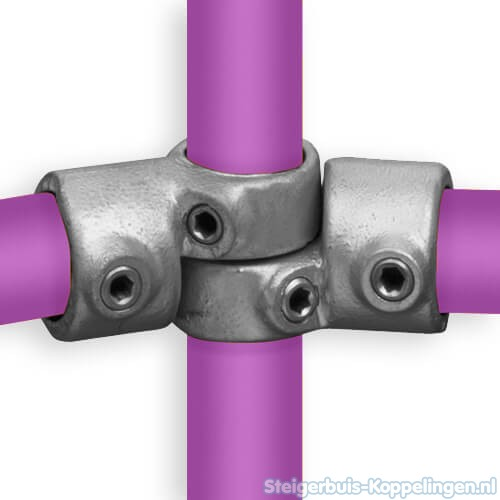 Steigerbuis koppeling verstelbaar hoekstuk