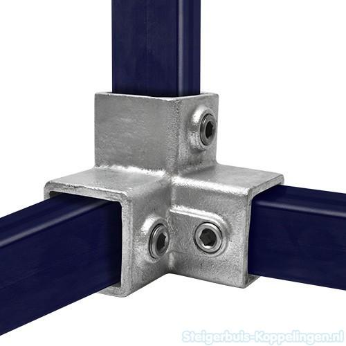 Drieweg kniestuk 90 vierkant