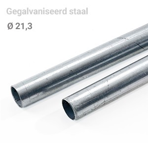 Buis staal 21,3 mm