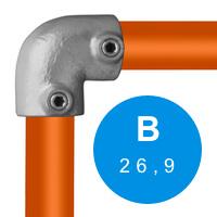 Buiskoppeling 26,9 mm (B)