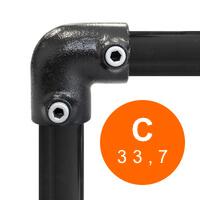 Buiskoppeling zwart 33,7 mm (C)