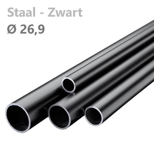 buis staal zwart 26,9 mm