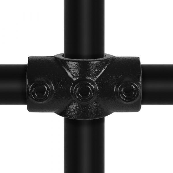 koppeling kruisstuk in 1 vlak zwart