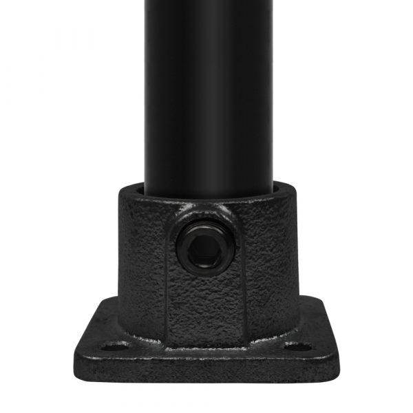 zwarte-koppeling-vierkante-voetplaat